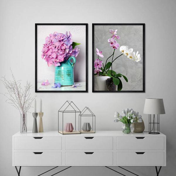 راهنمای خرید تابلوی دکوراتیو - طرح گل و گلدان