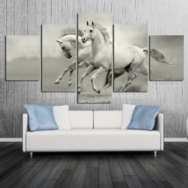 راهنمای خرید تابلوی دکوراتیو - مدل 5 تکه اسب