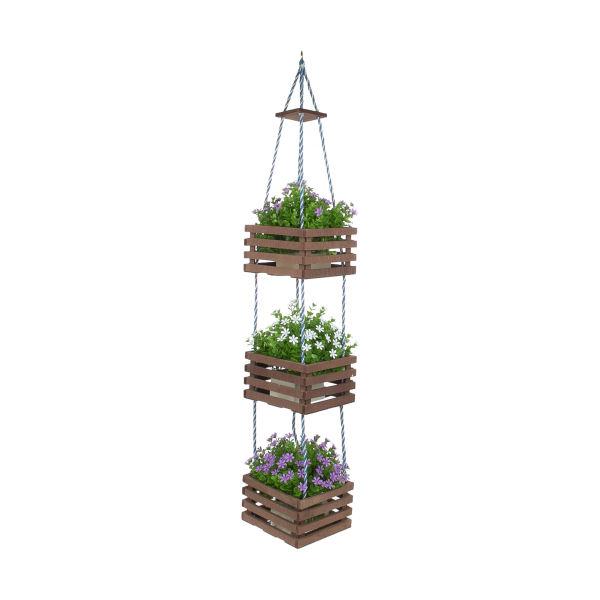 خرید آویز گلدان- چوبی