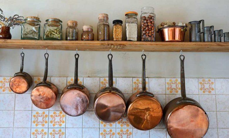 ظروف مسی برای پذیرایی
